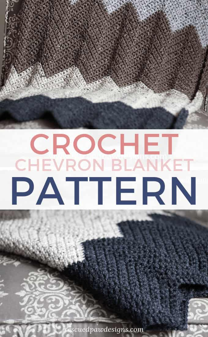Chevron Crochet Blanket Throw
