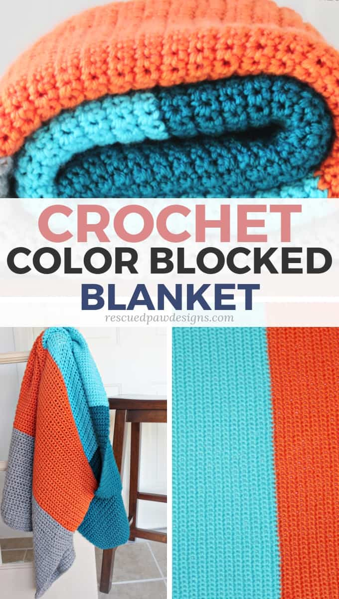 Simple Color Block Crochet Blanket Pattern Free Color Blocked Afghan