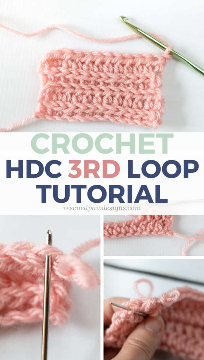 How to Half double crochet in the third loop