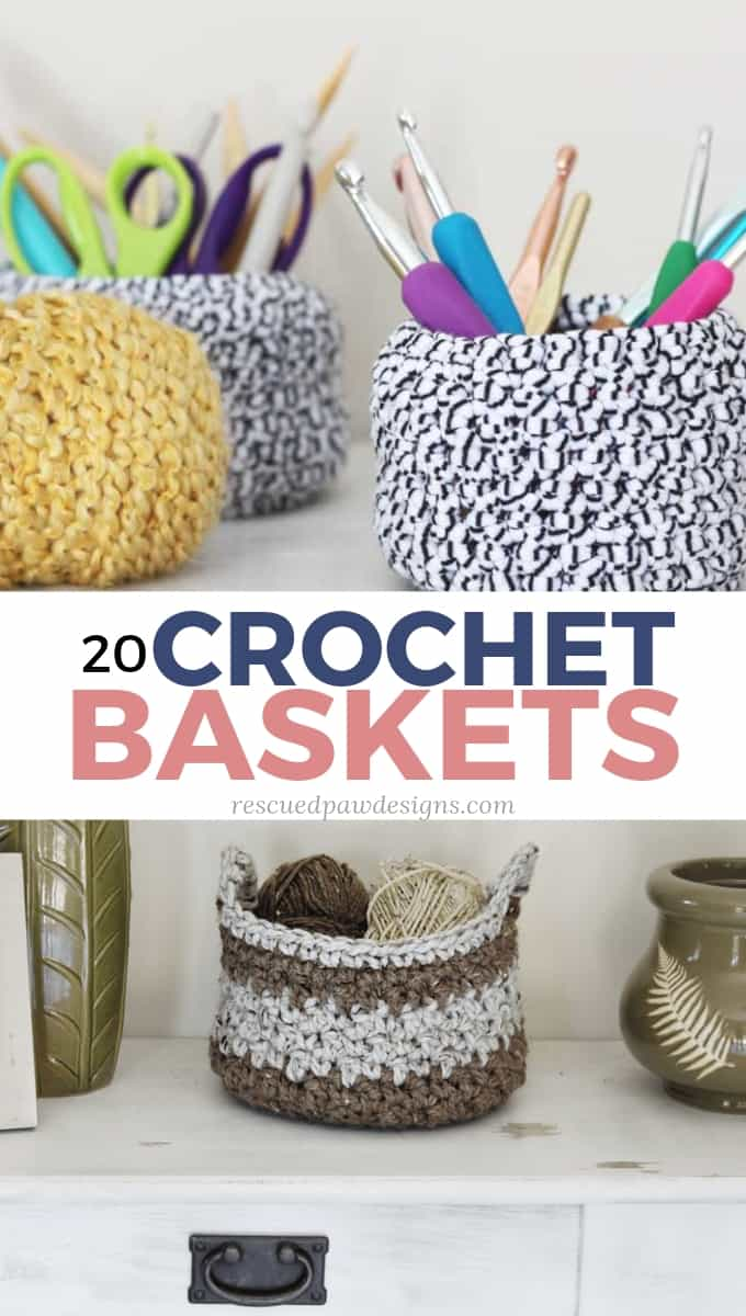 20 Free Crochet Basket Patterns - How to Crochet 20 Basket