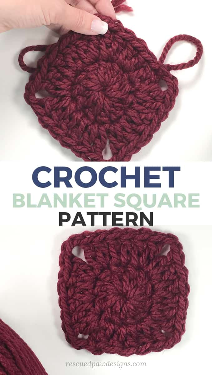 Crochet Blanket Square Pattern