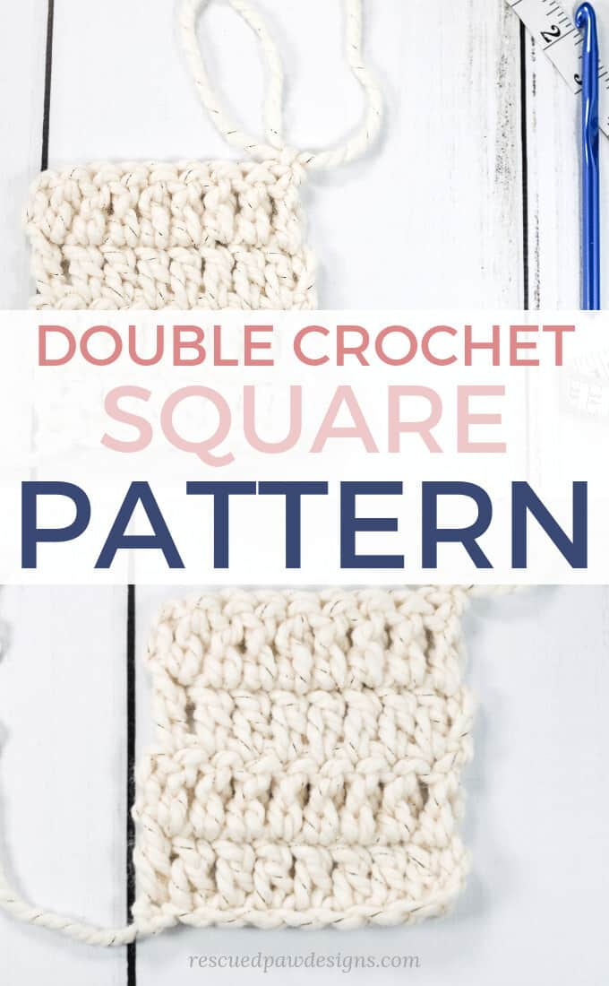 How to make a double crochet square