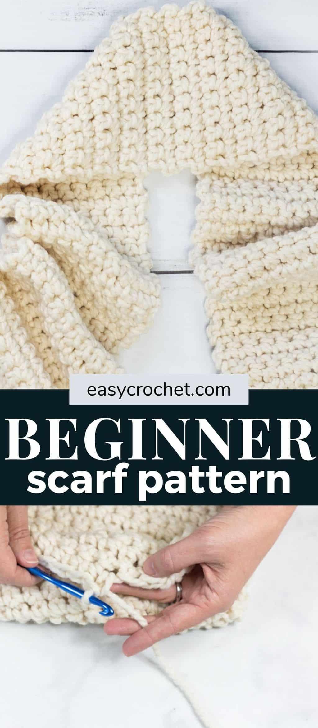 Easy Crochet Beginner Scarf Crochet Pattern via @easycrochetcom