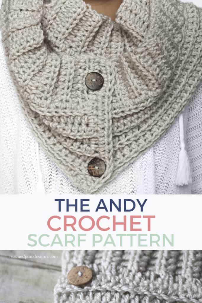 Crochet Button Scarf Pattern