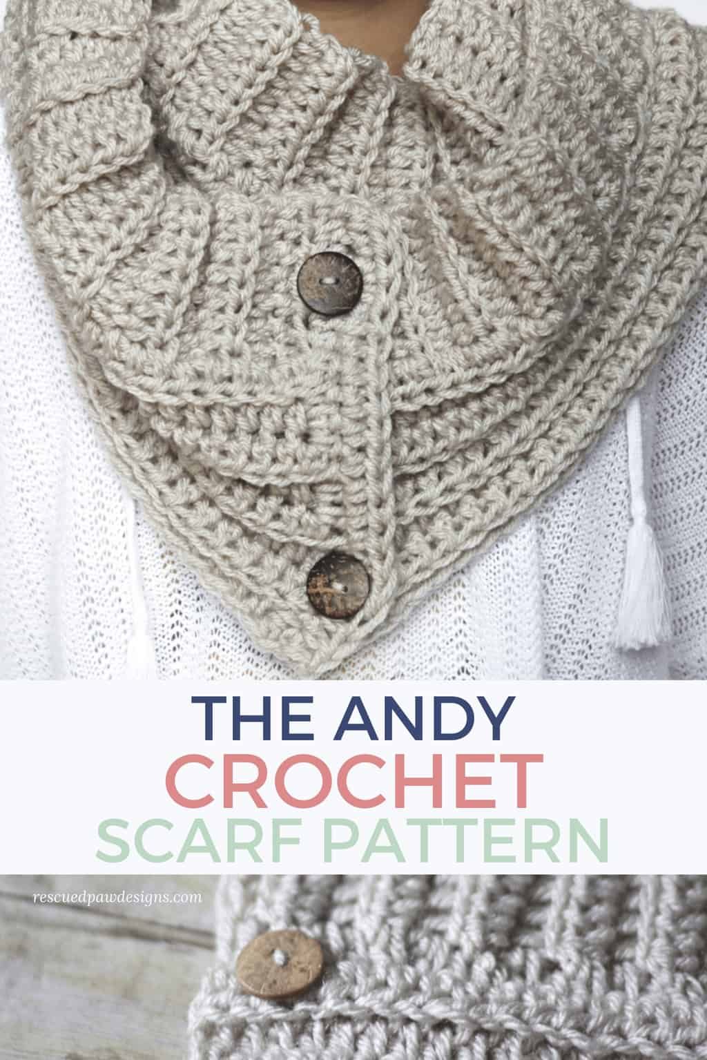 Crochet Button Scarf Pattern