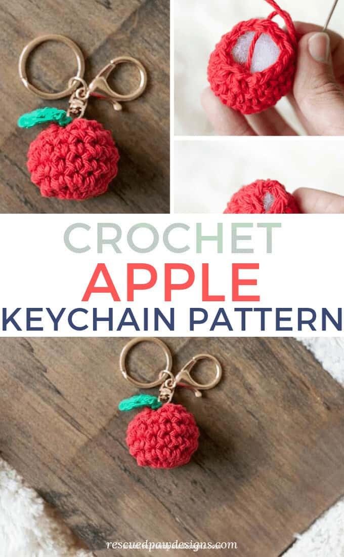Crochet Apple Keychain Pattern