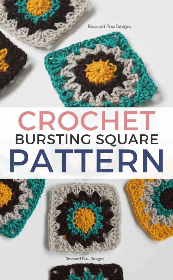 Easy Crochet Square Pattern Motif