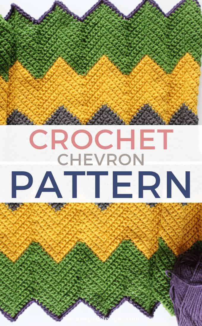 Striped Crochet Chevron Blanke Pattern