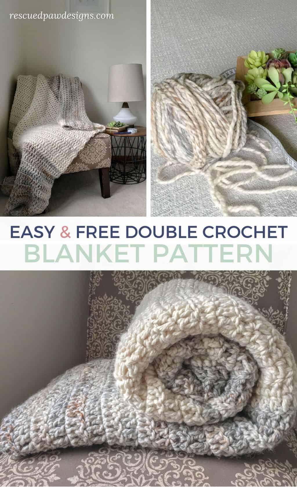 free double crochet blanket pattern