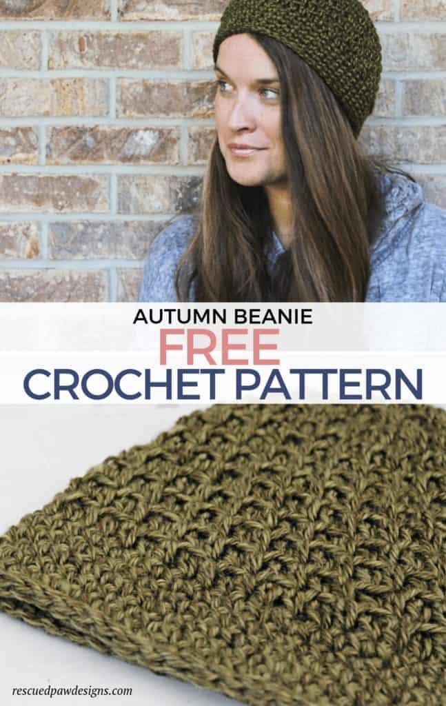 Crochet Beanie Hat Pattern for Fall Free