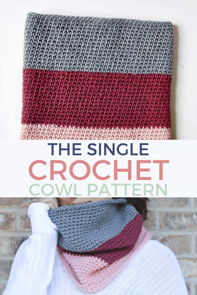 Color-Blocked Cowl Crochet Pattern