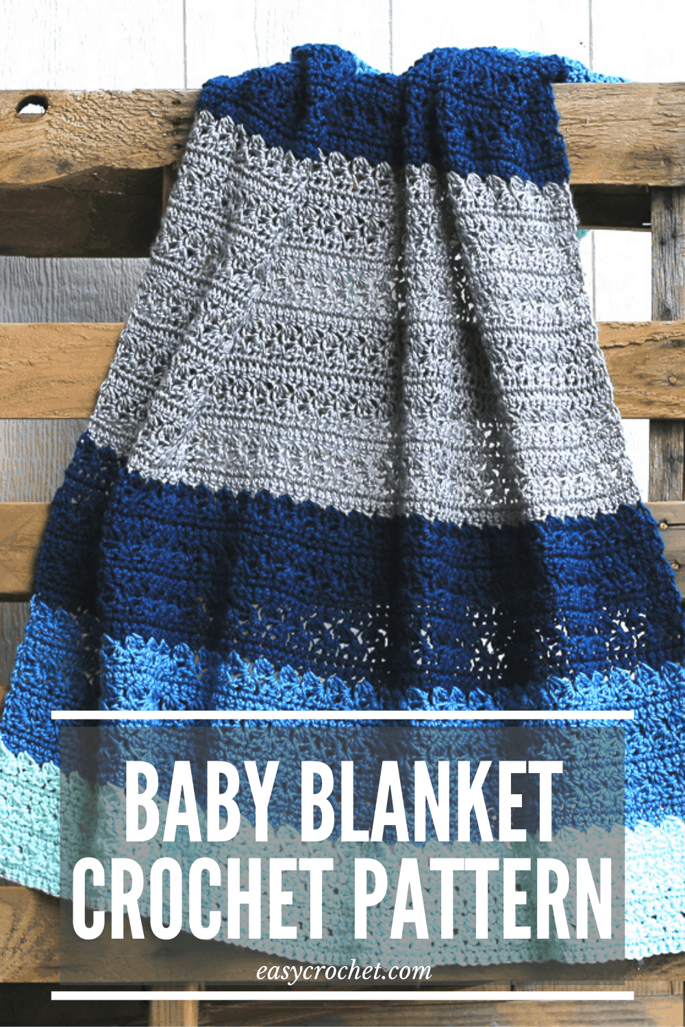 FREE simple stitch crochet baby blanket pattern. via @easycrochetcom