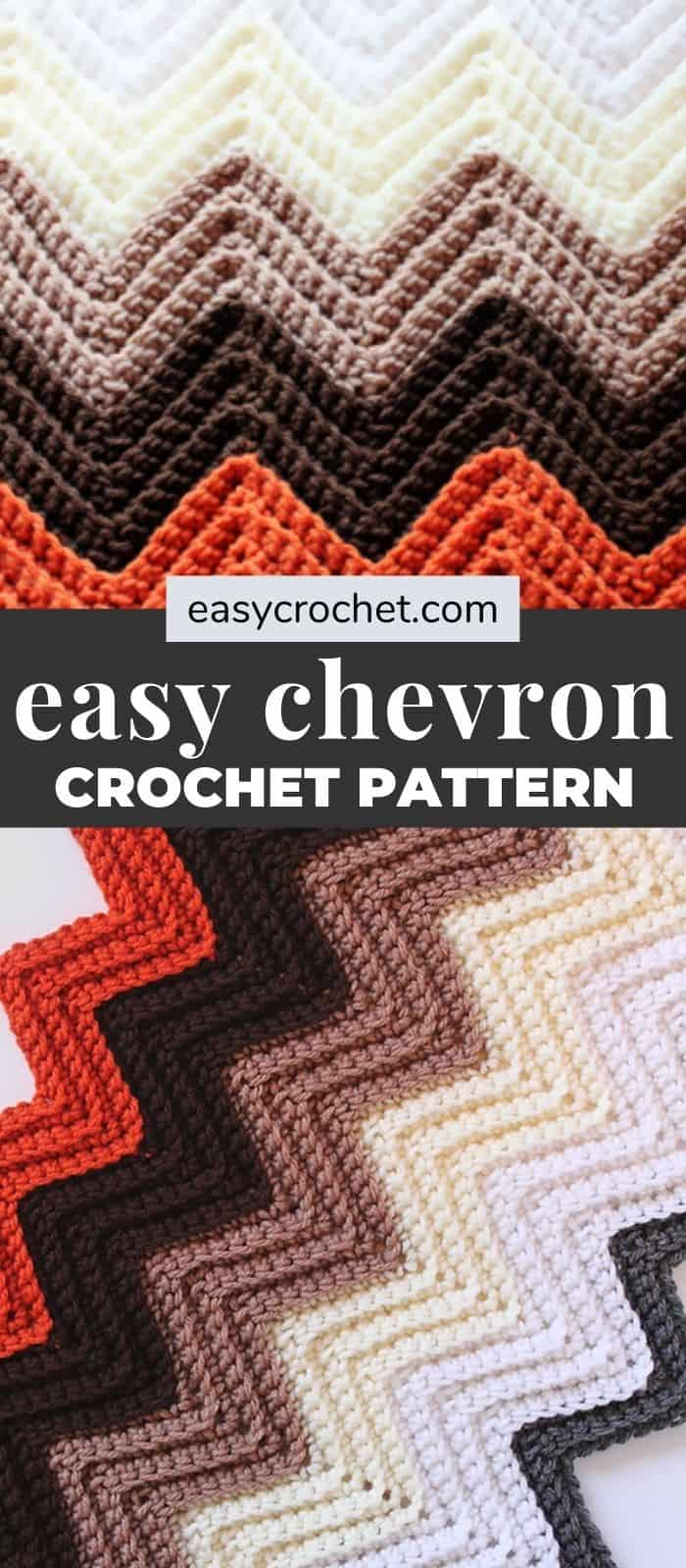 Free Chevron Crochet Blanket Pattern by Easy Crochet - Easy to make crochet chevron pattern! via @easycrochetcom