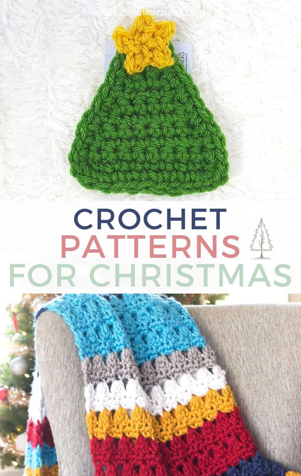 Top Free Christmas Crochet Patterns - Gift Card Holder & Christmas Crochet Blanket