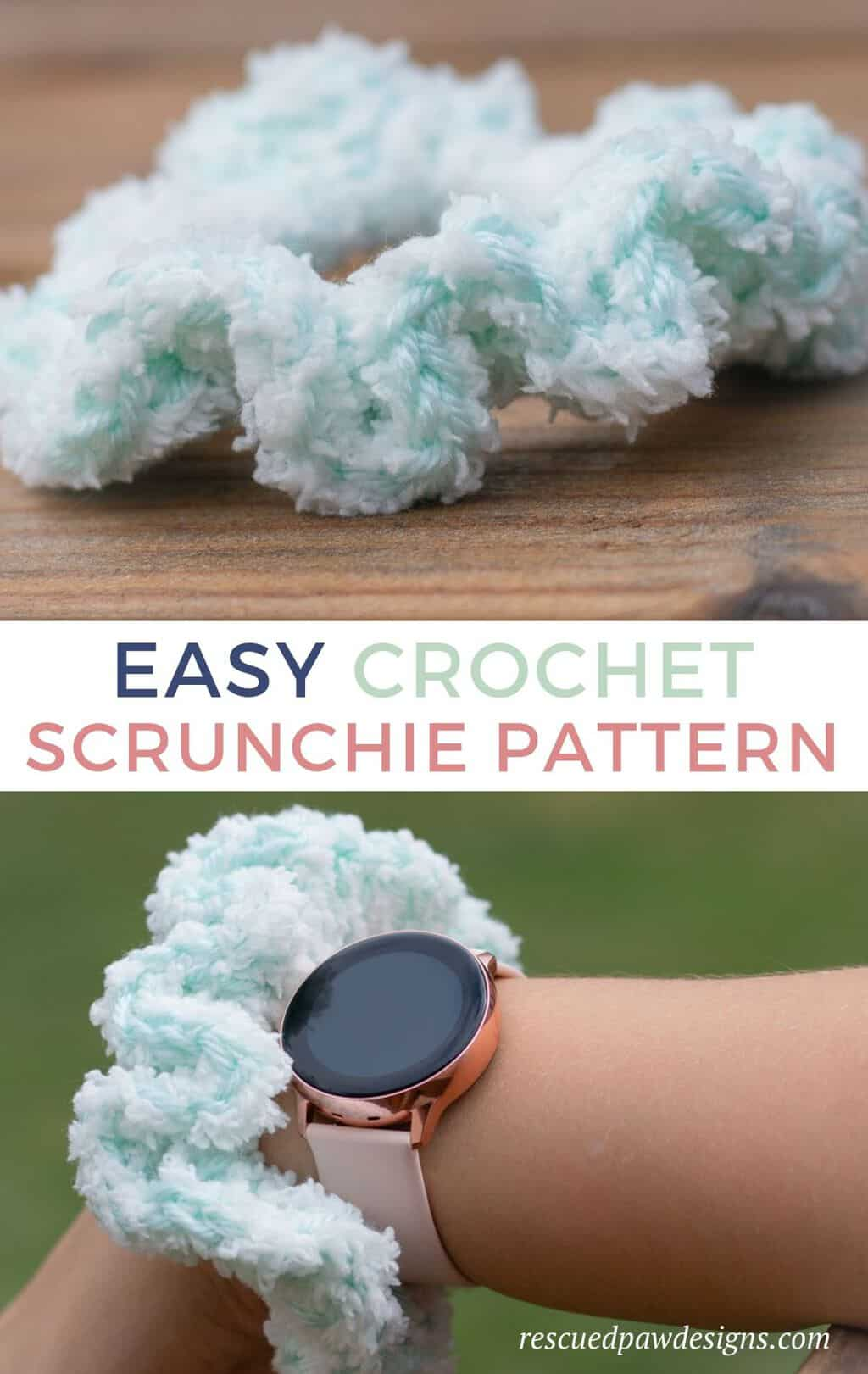 Crochet Hair Scrunchie Pattern