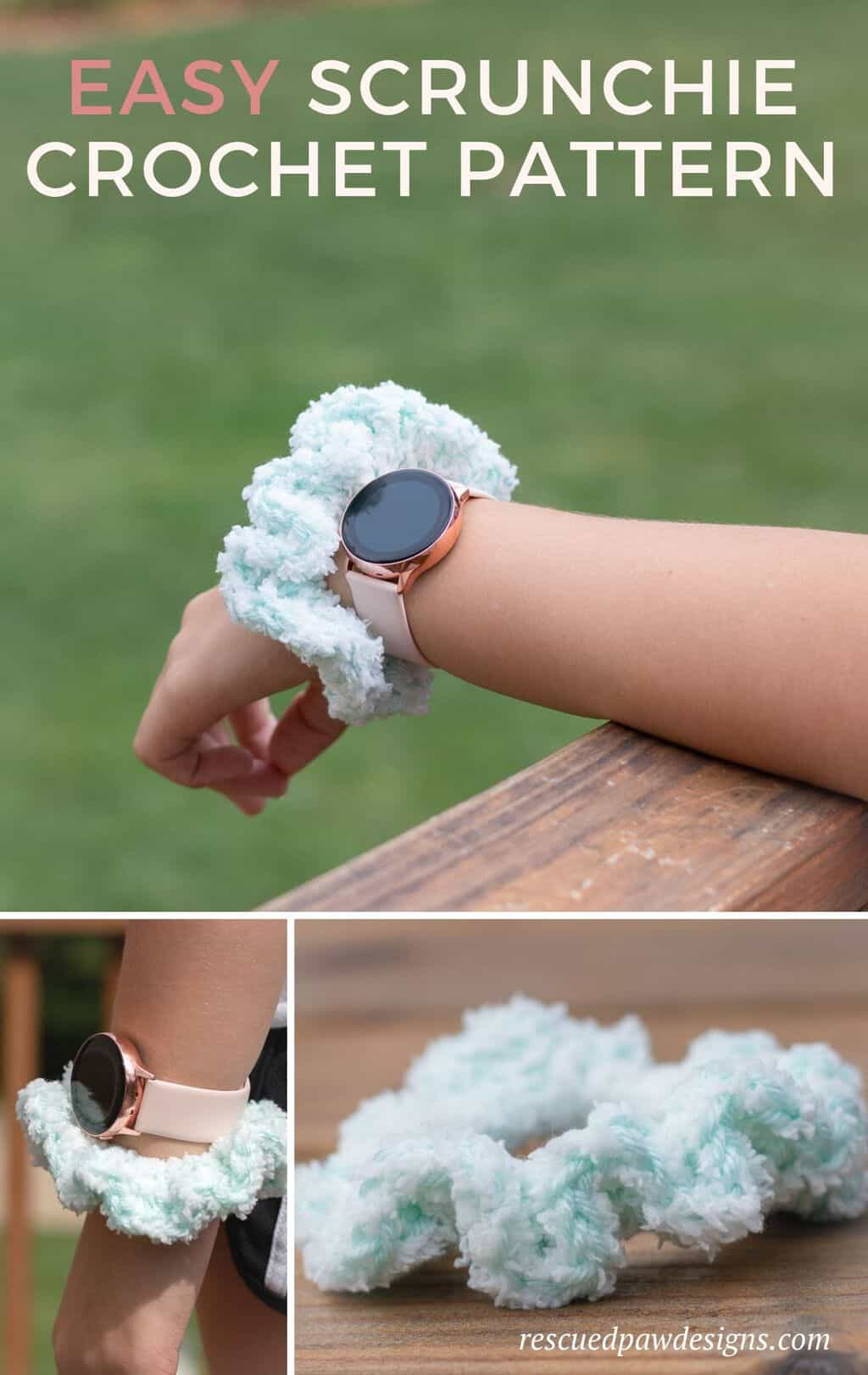 Crochet Scrunchie Hair and Wrist Pattern