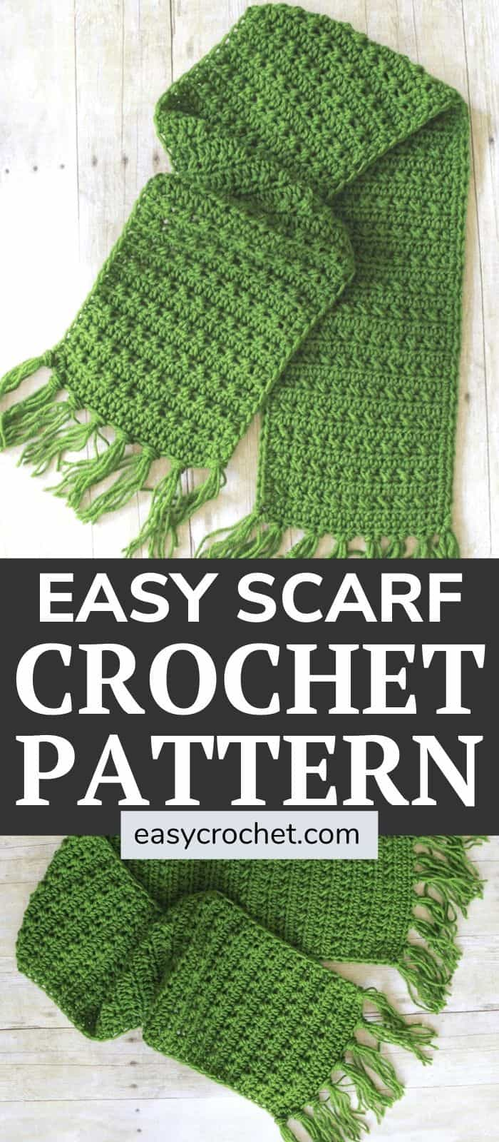 easy crochet scarf with fringe via @easycrochetcom