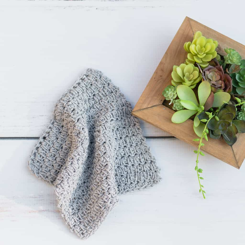 Crochet Pattern for a Dishcloth using the Spike stitch.