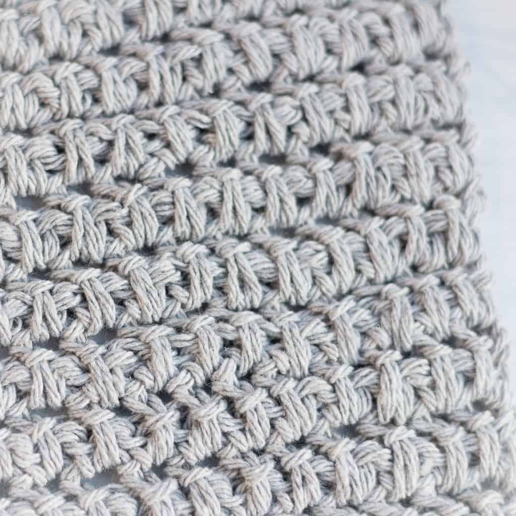 Crochet Herringbone Half Double Crochet Spike Stitch
