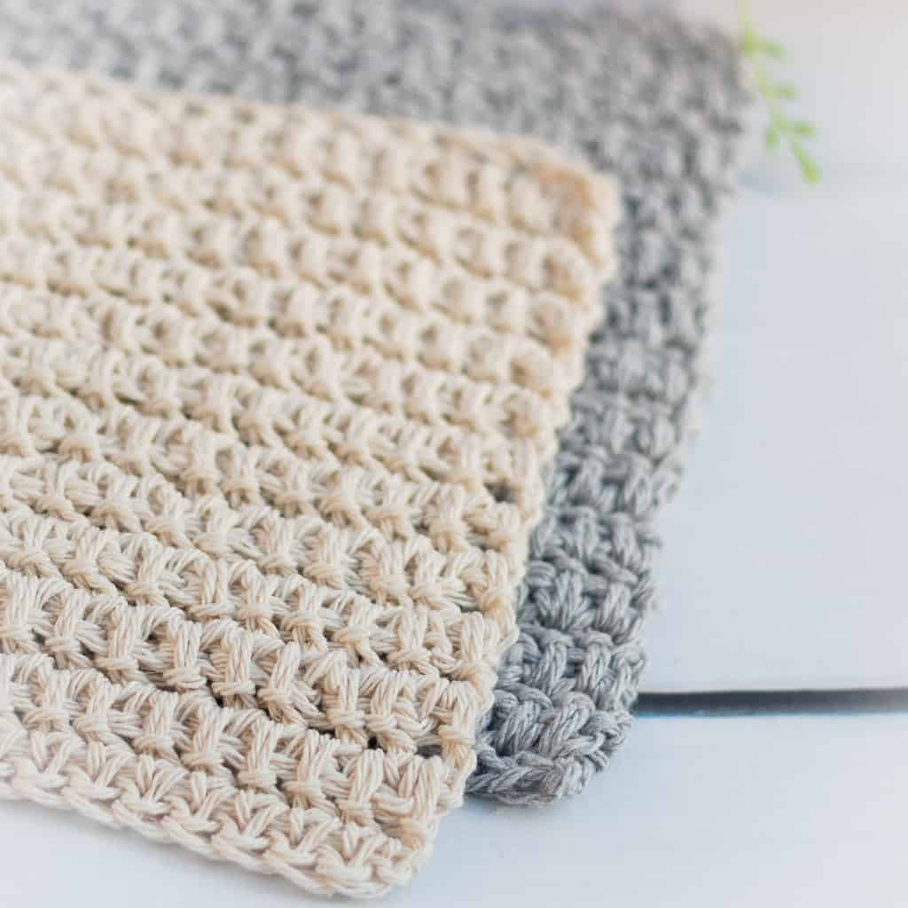 How to crochet spike stitches in a dishcloth!