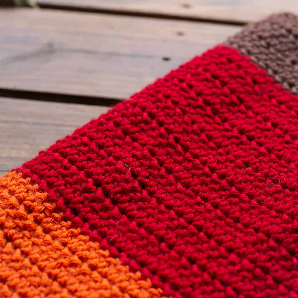 Herringbone Half Double Crochet Blanket Tutorial and Pattern