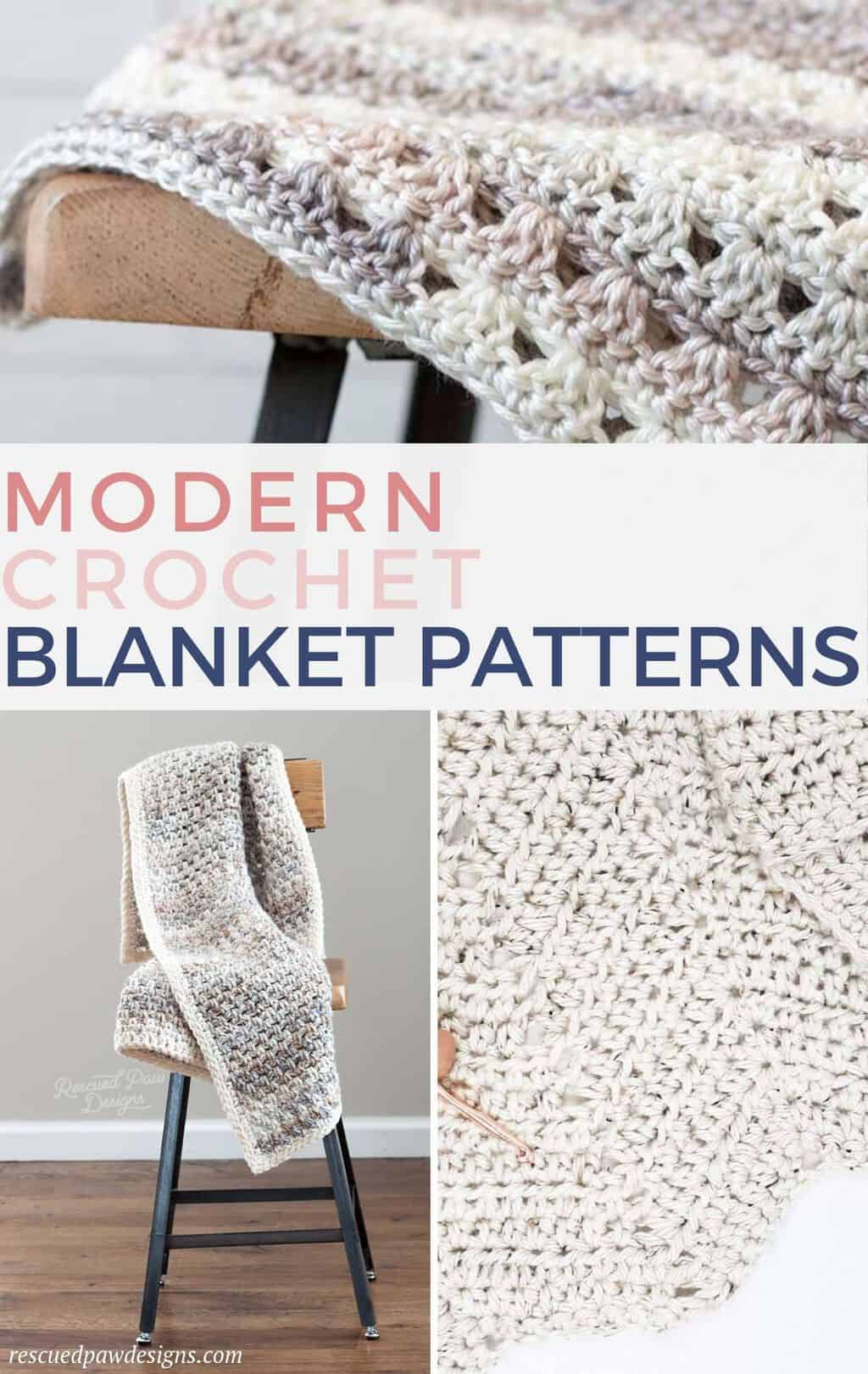 Free Modern Crochet Patterns for Blankets