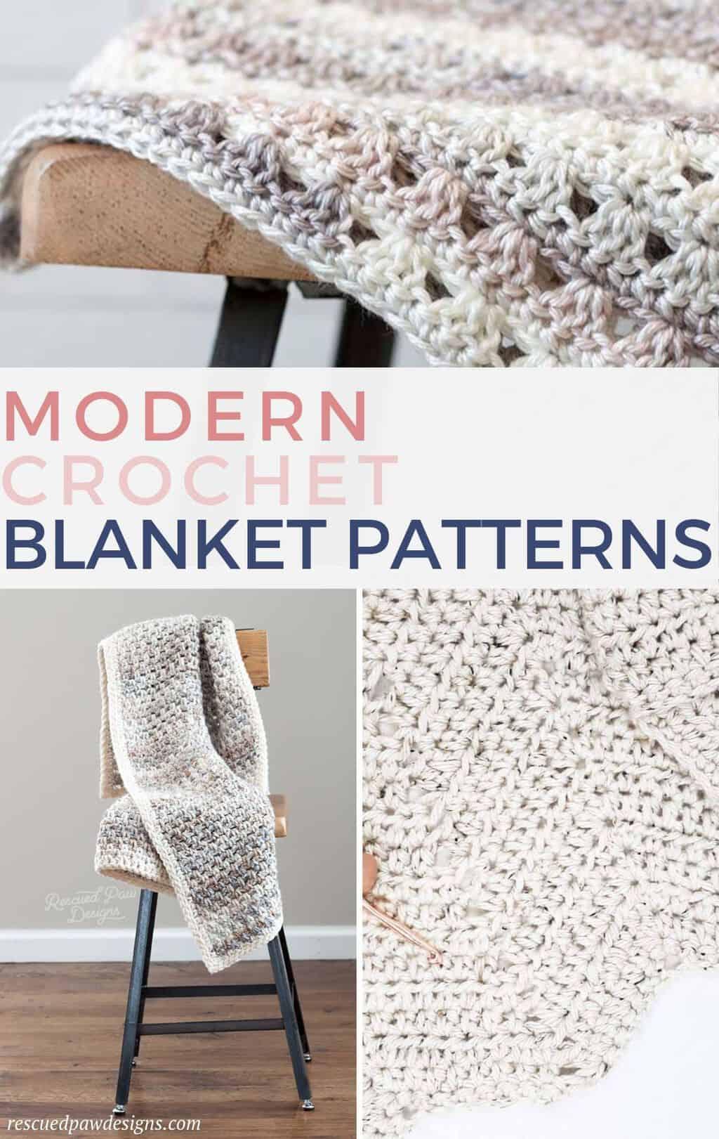 Free Modern Crochet Patterns for Blankets