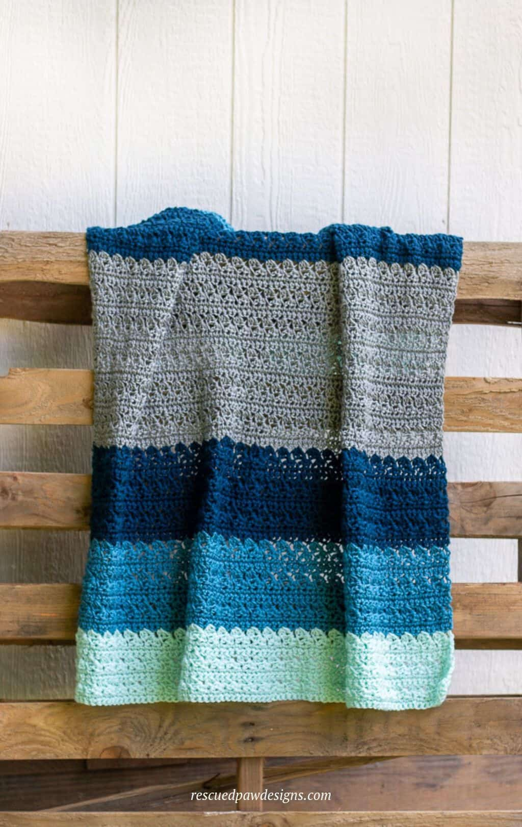Crochet Blanket pattern that is perfect for baby shower gifts