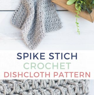 Spike Stitch Crochet Pattern for a Dishcloth