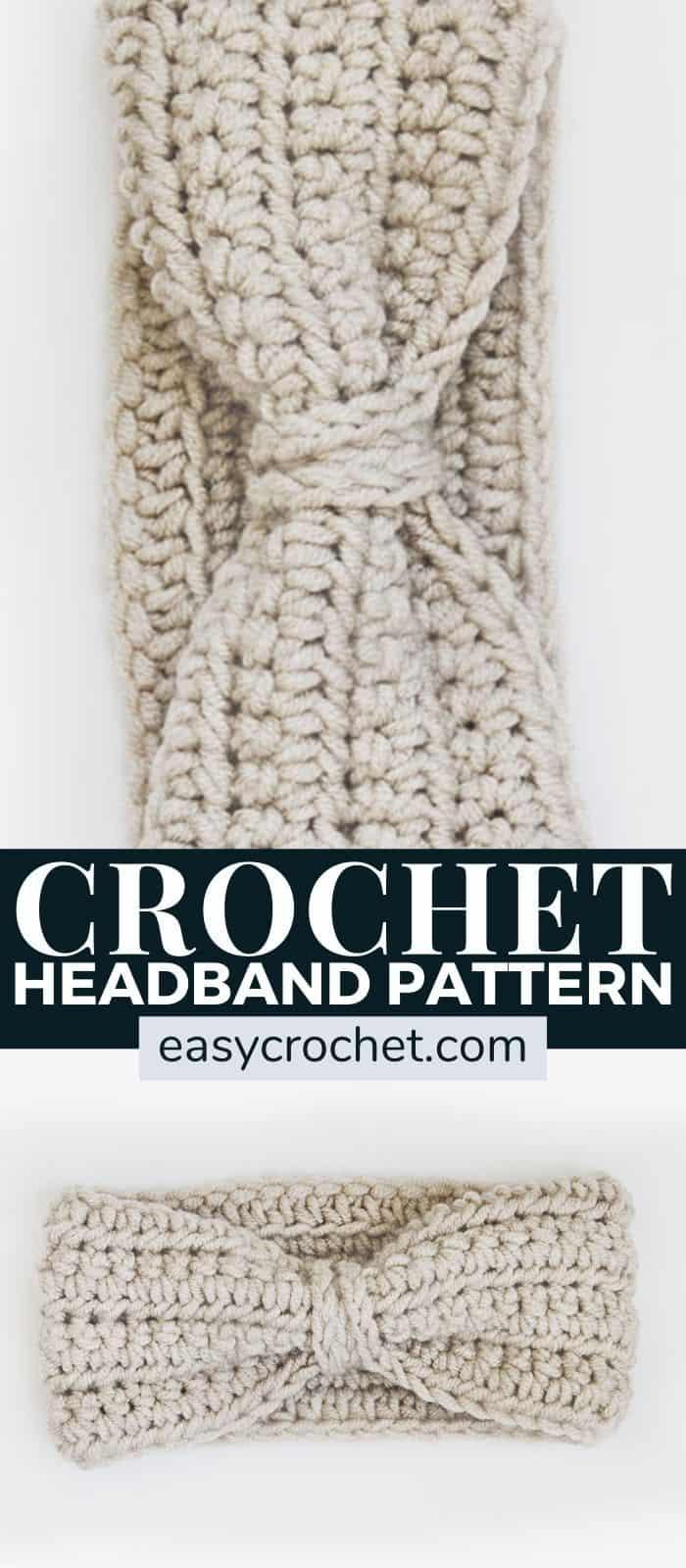 Free crochet ear warmer crochet pattern for an easy to crochet headband. Find this free crochet pattern at easycrochet.com via @easycrochetcom