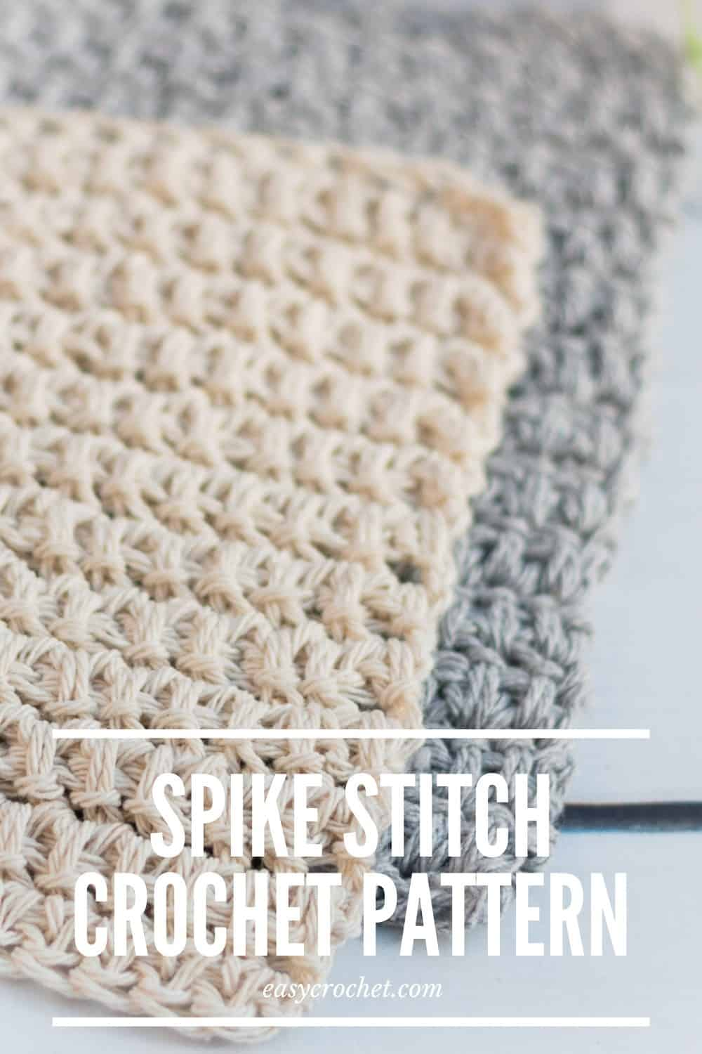 Free Spike Stitch Crochet Dishcloth Pattern via @easycrochetcom
