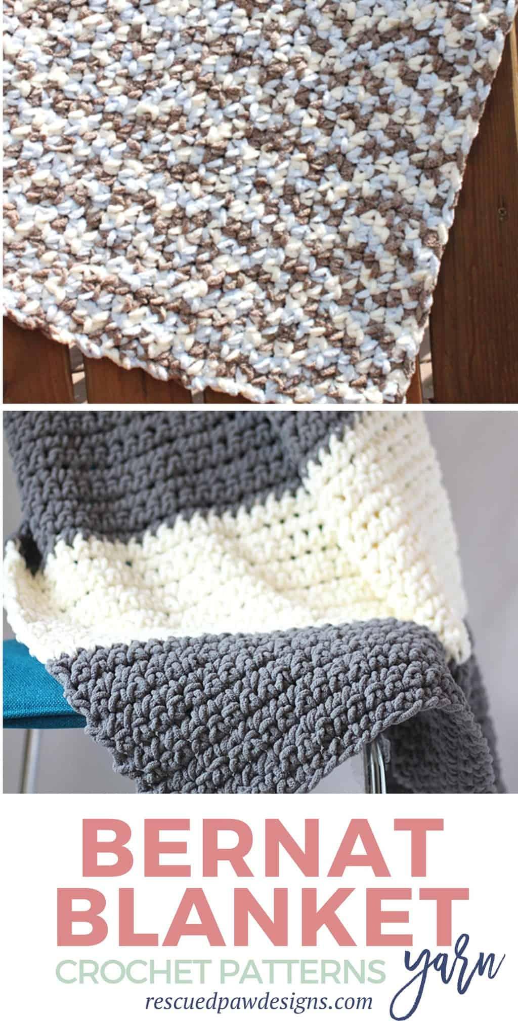 Bernat Blanket Yarn Crochet Patterns