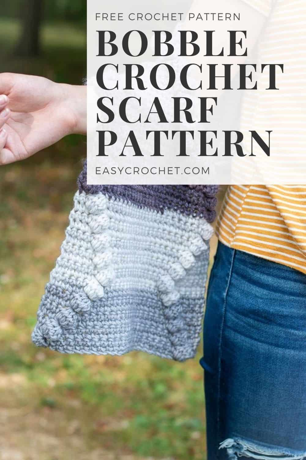 Bobble Scarf Crochet Pattern - Learn how to make this simple crochet scarf with the free pattern from easycrochet.com via @easycrochetcom