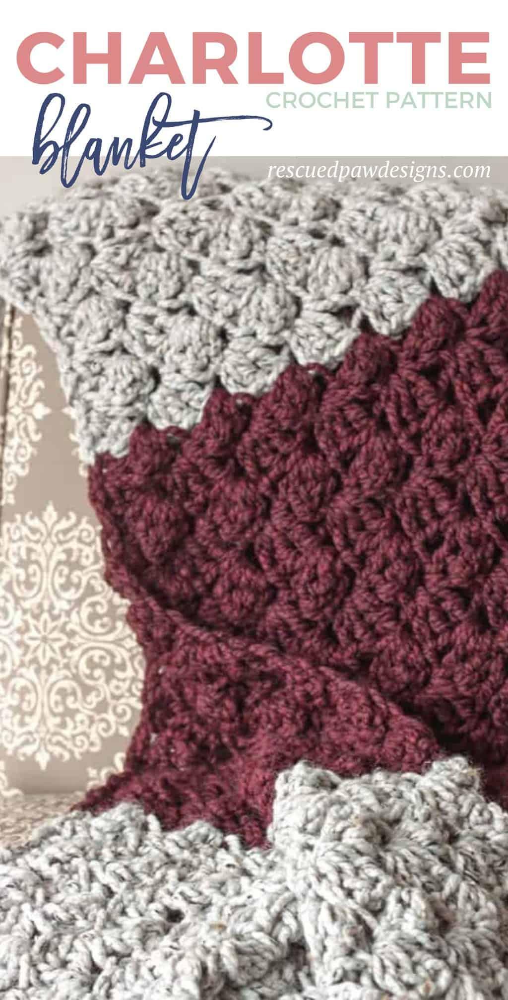 Beginner Crochet Blanket Pattern - Easy