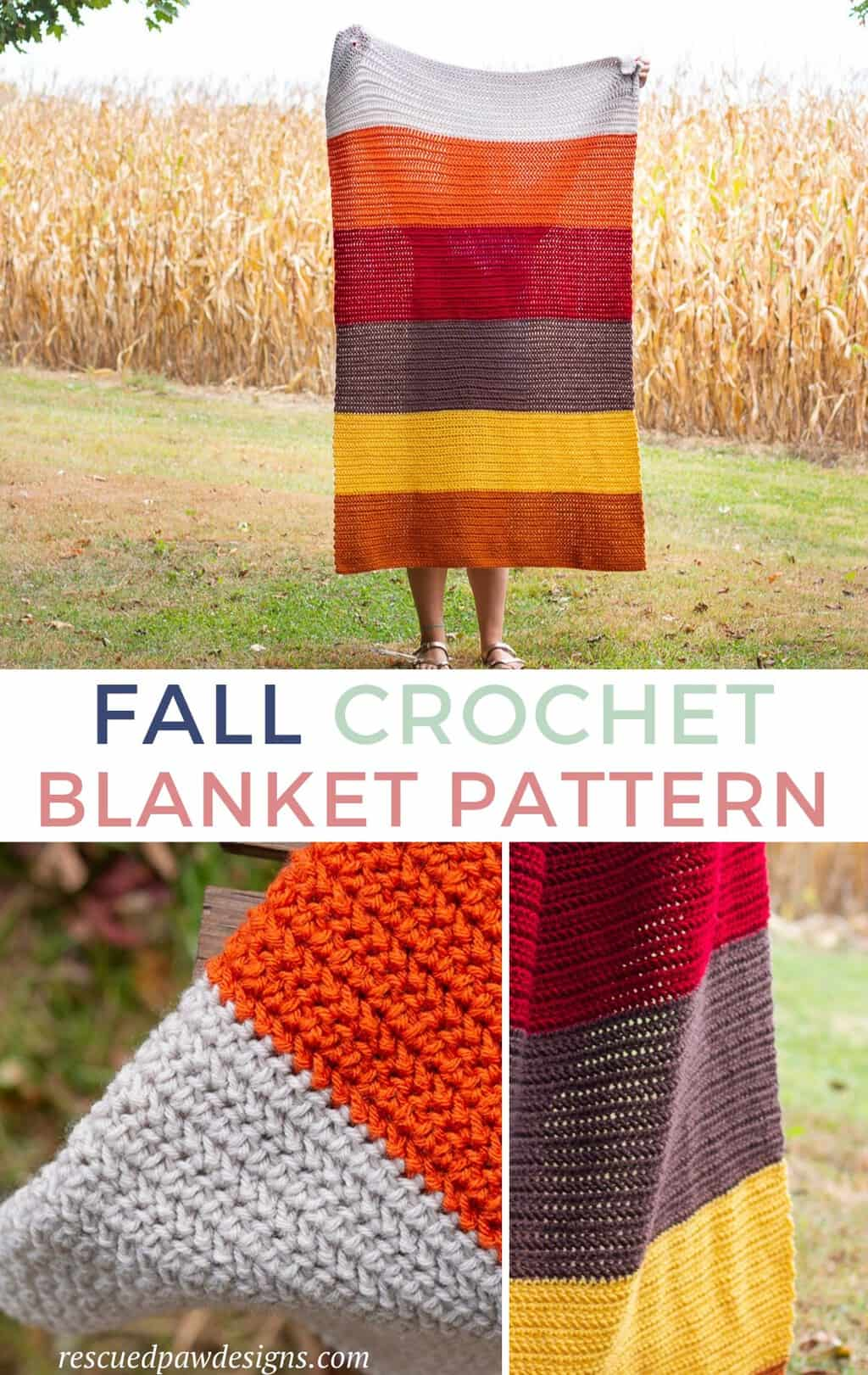 Fall Crochet Blanket Pattern Colorblocked