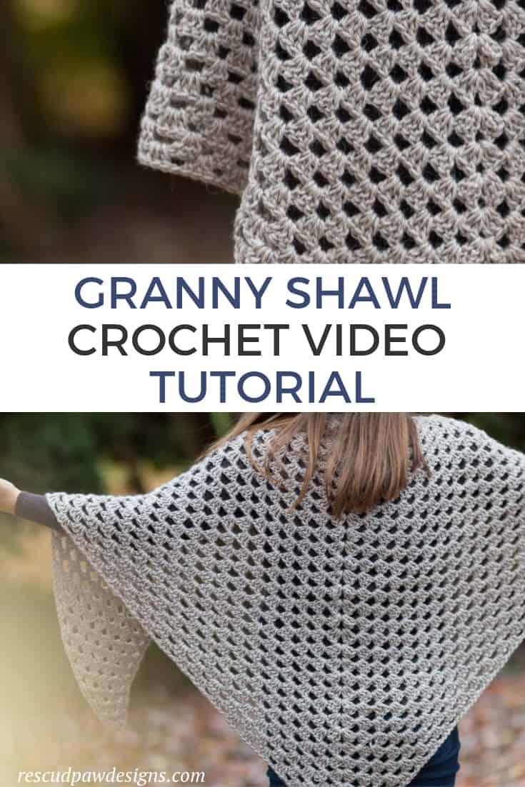 Granny Shawl Crochet Video