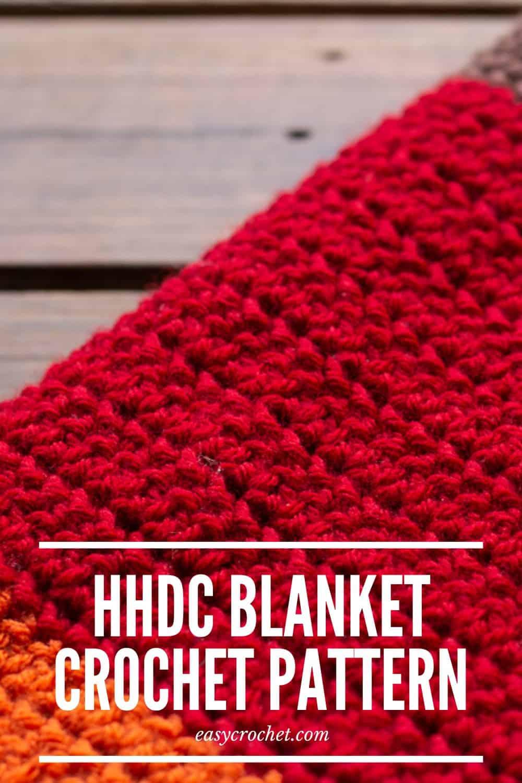 Free Herringbone Half Double Crochet Blanket Pattern - Perfect Fall Crochet Blanket Pattern by Easy Crochet via @easycrochetcom