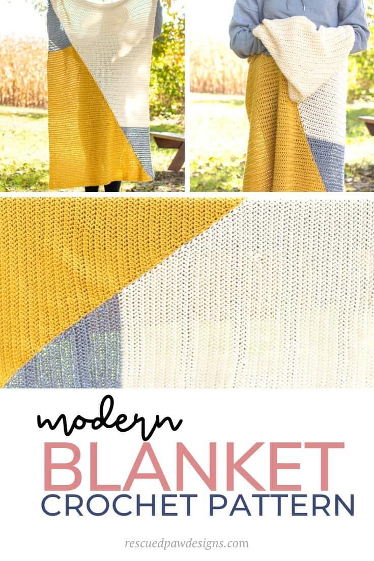 Triangle Crochet Blanket Pattern