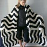 Chunky Chevron Bernat Blanket Yarn Pattern