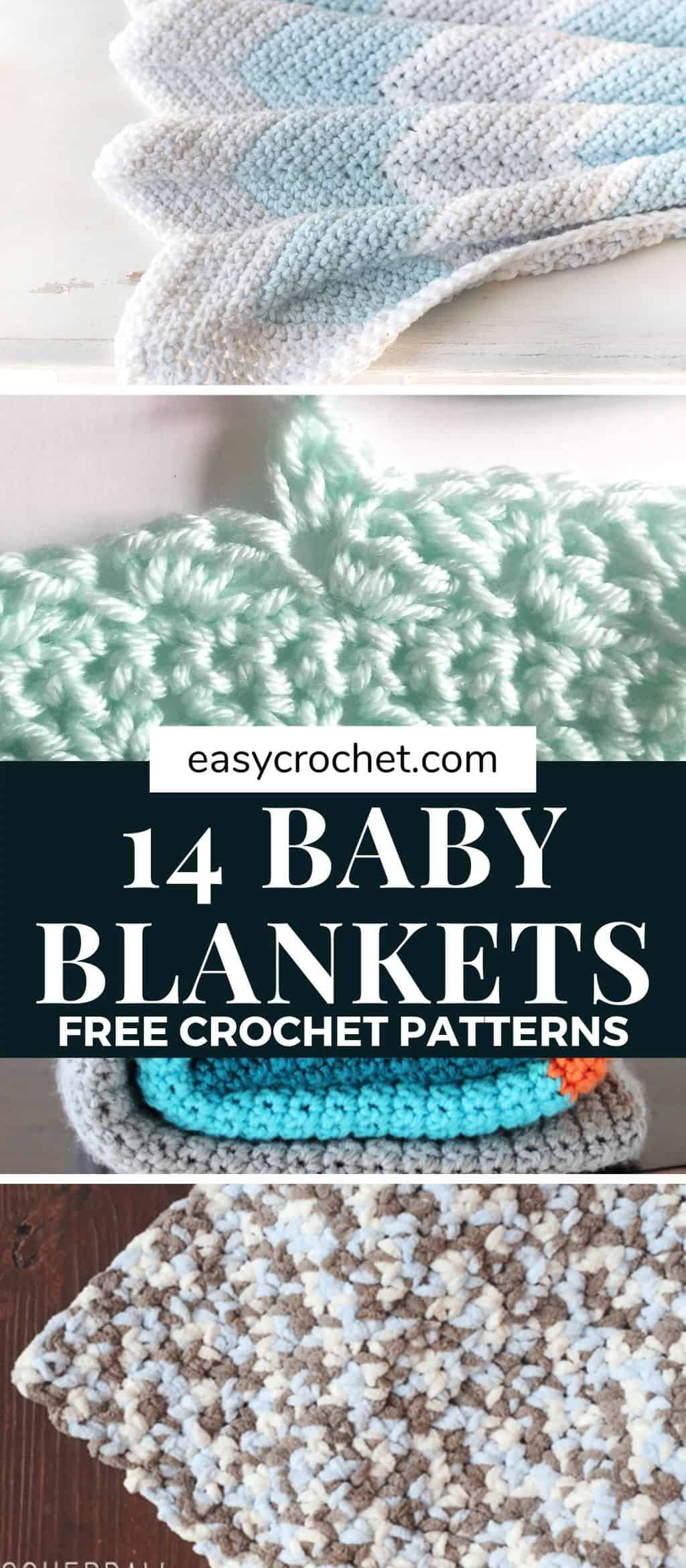 free crochet baby blanket patterns via @easycrochetcom