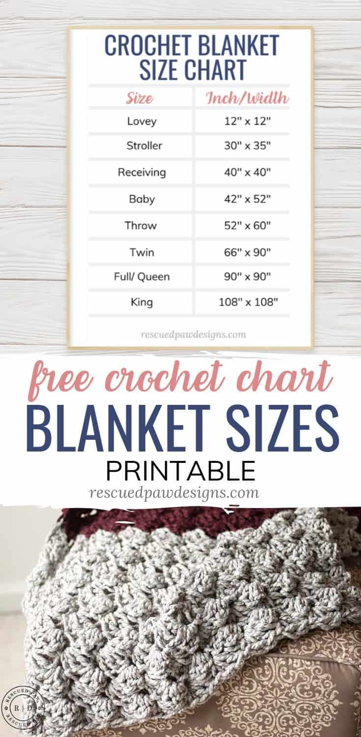 Crochet Blanket Sizes Chart
