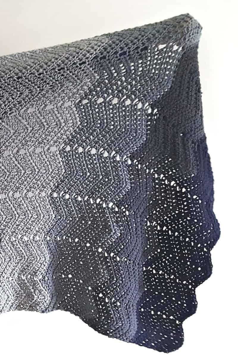 Ombre Baby Blanket Crochet Pattern