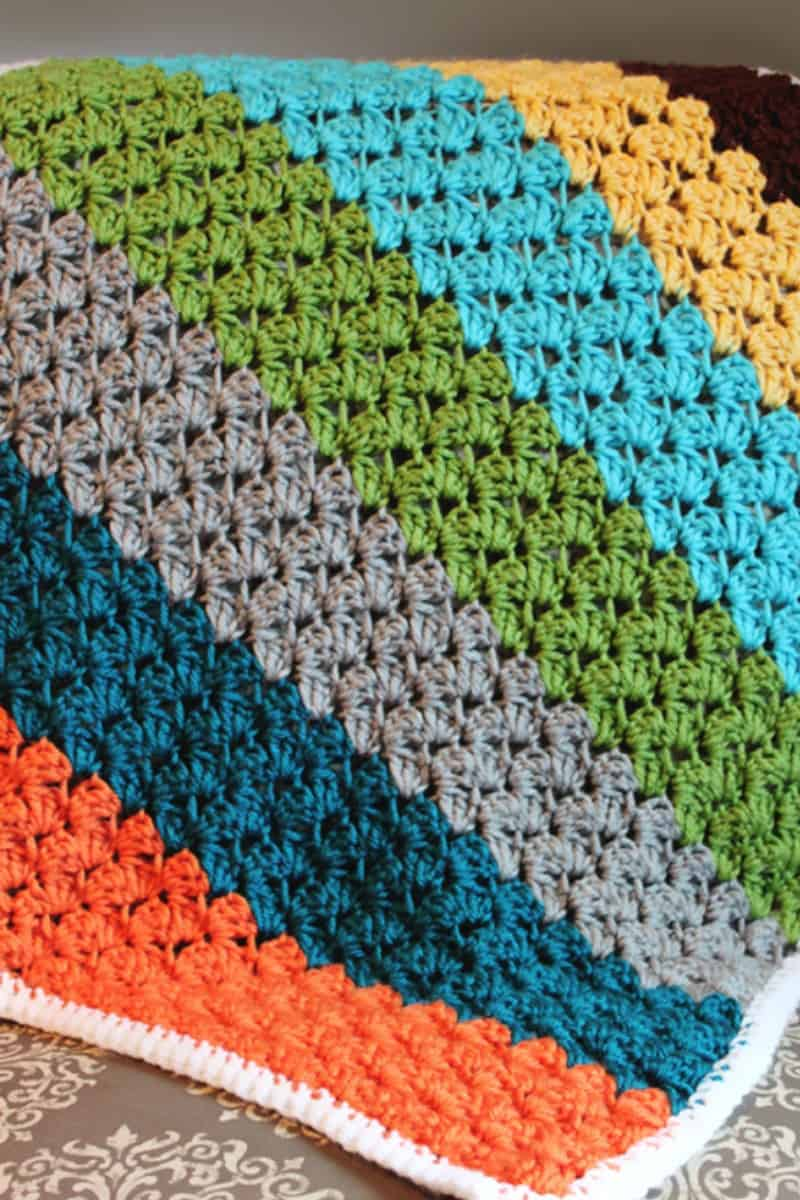 Colorful Striped Baby Blanket