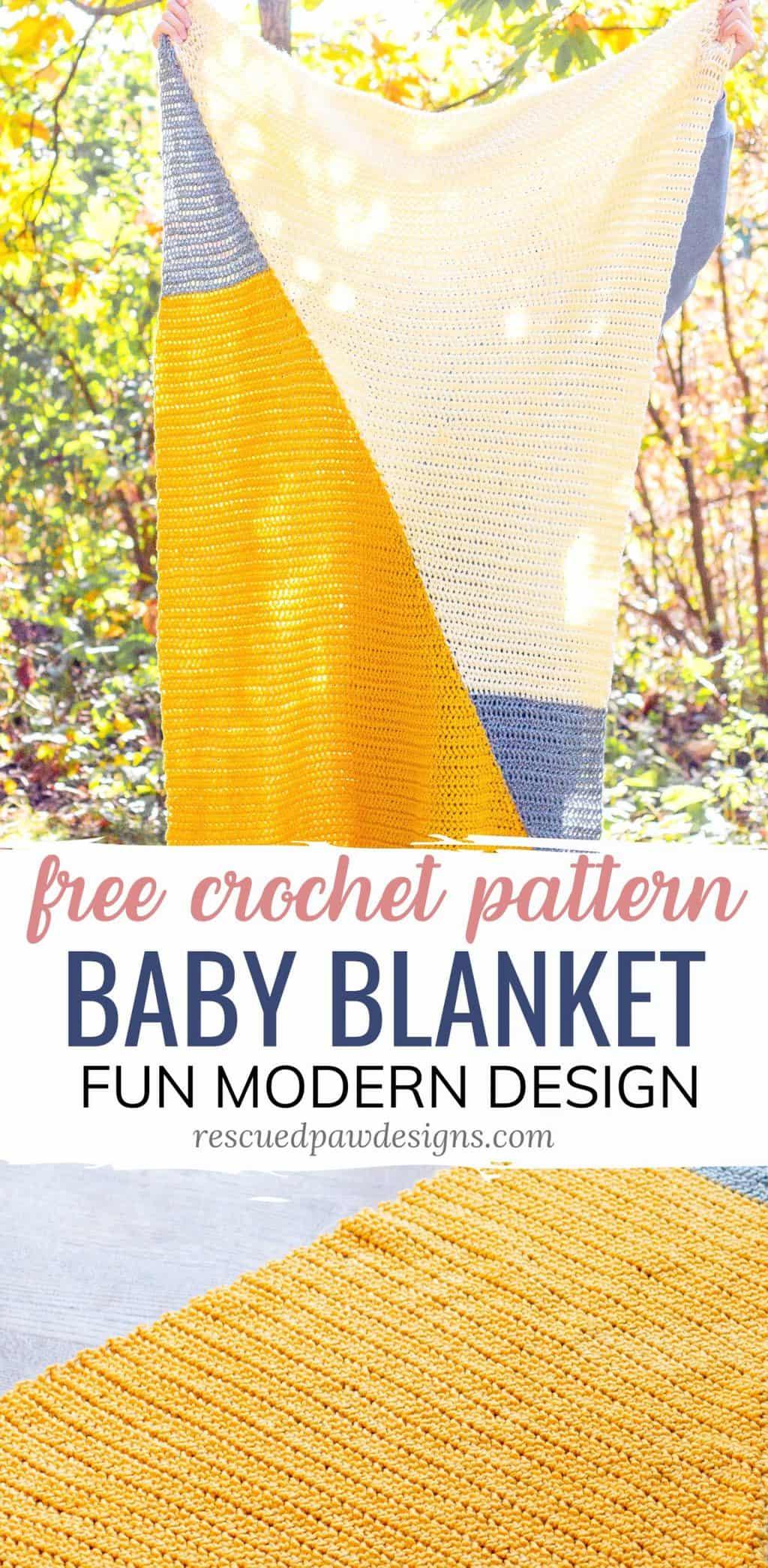 Gender Neutral Crochet Baby Blanket