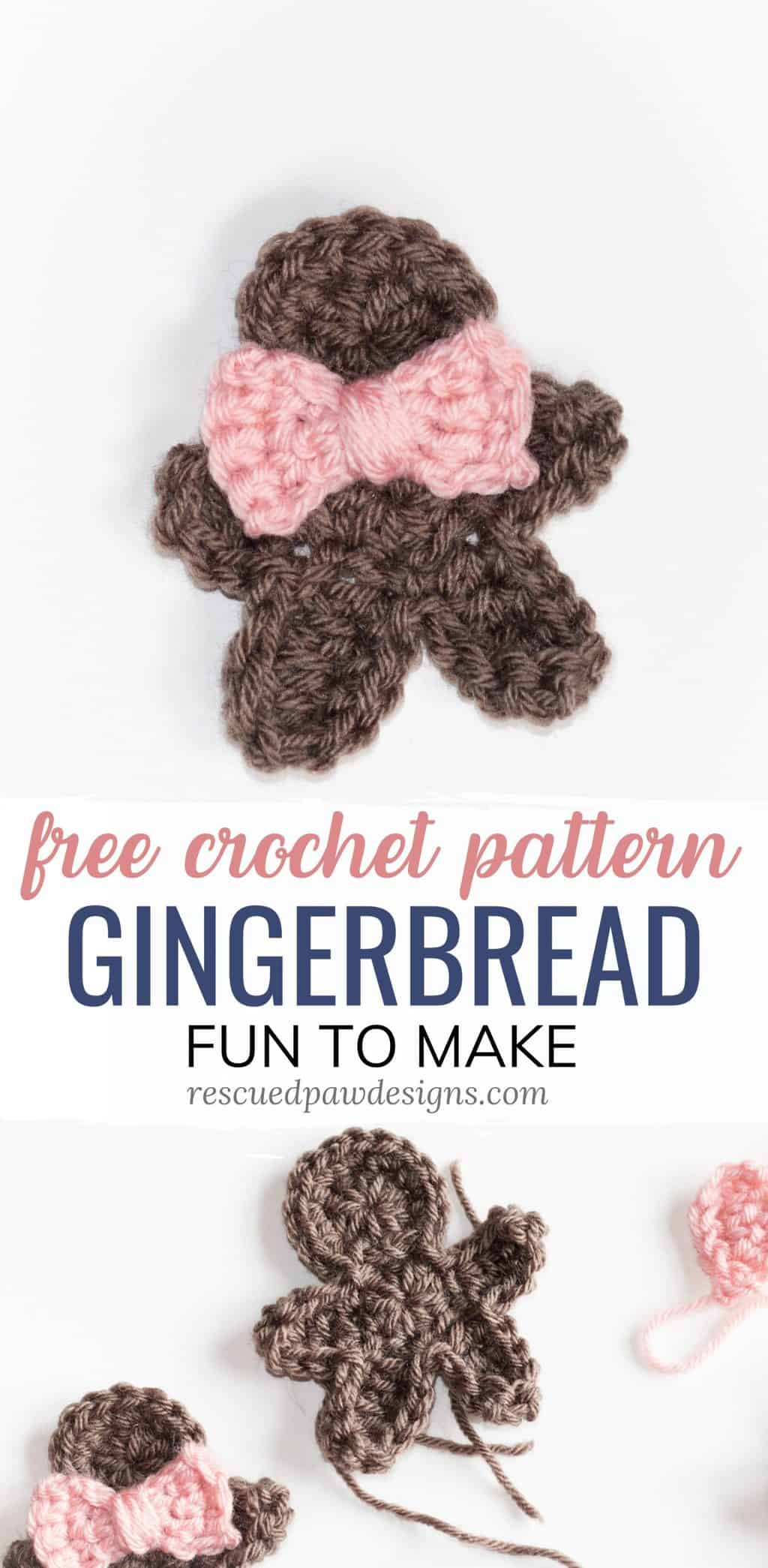 gingerbread man crochet ornament