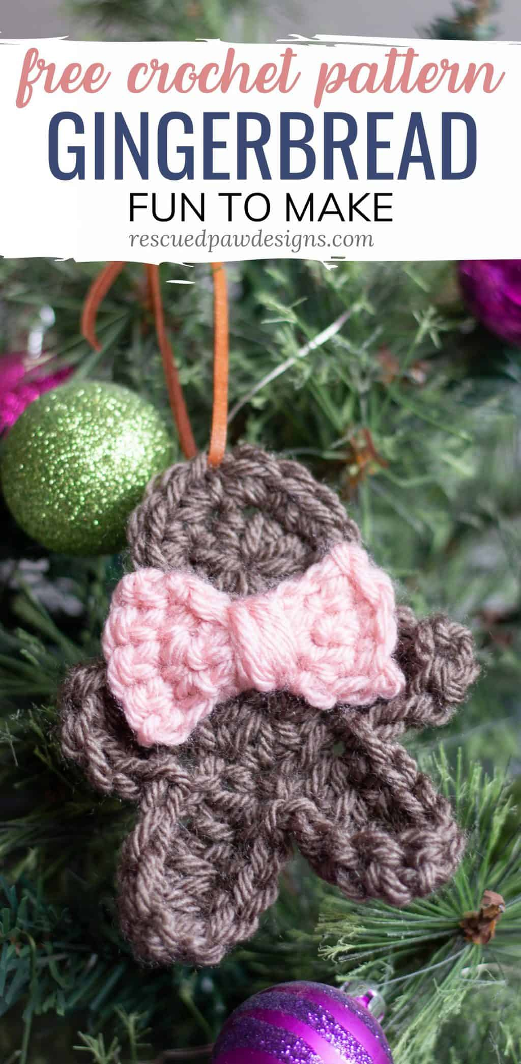Gingerbread Man Crochet Ornaments