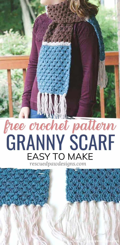 Granny Stitch Crochet Scarf Pattern