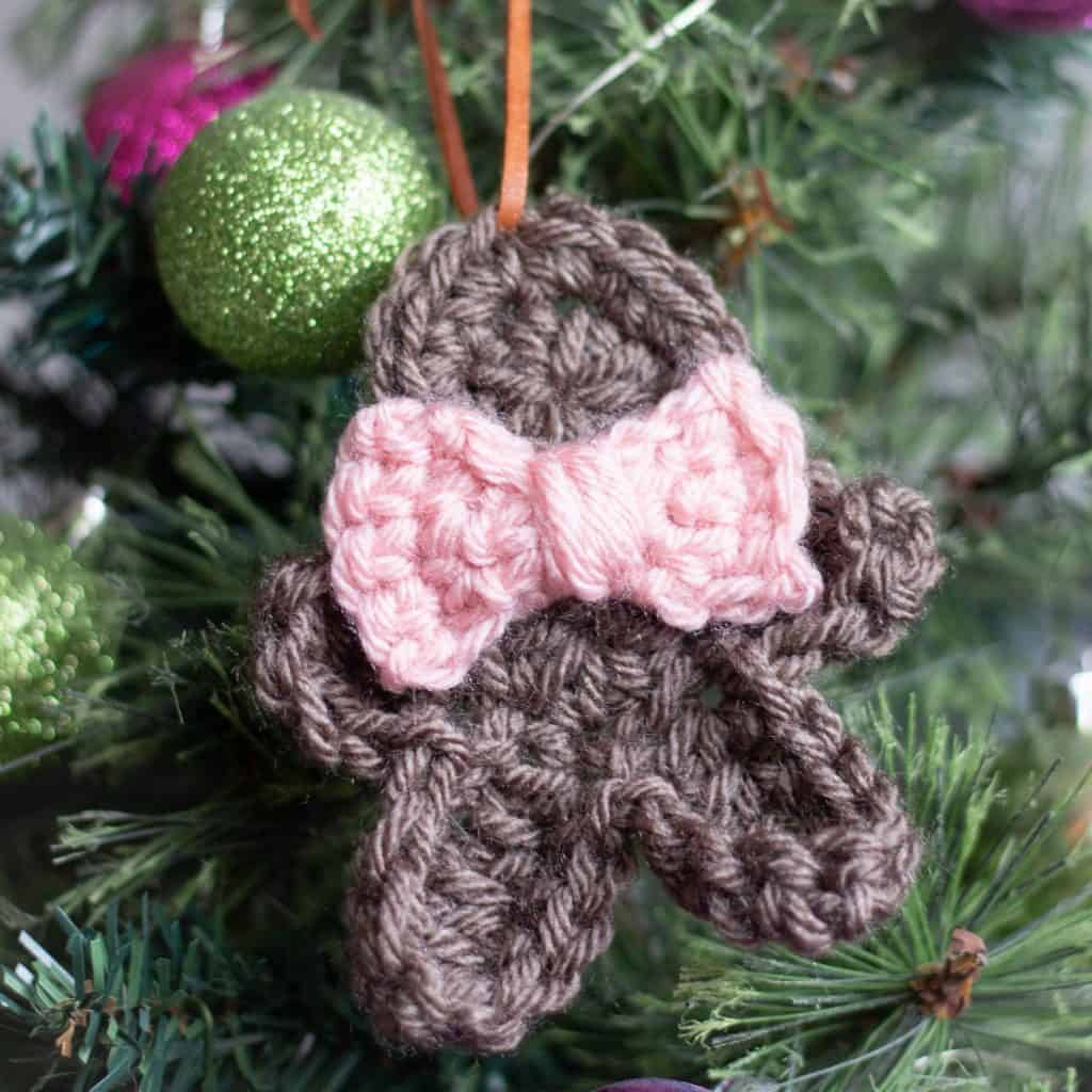 Christmas Gingerbread Man Ornament Crochet