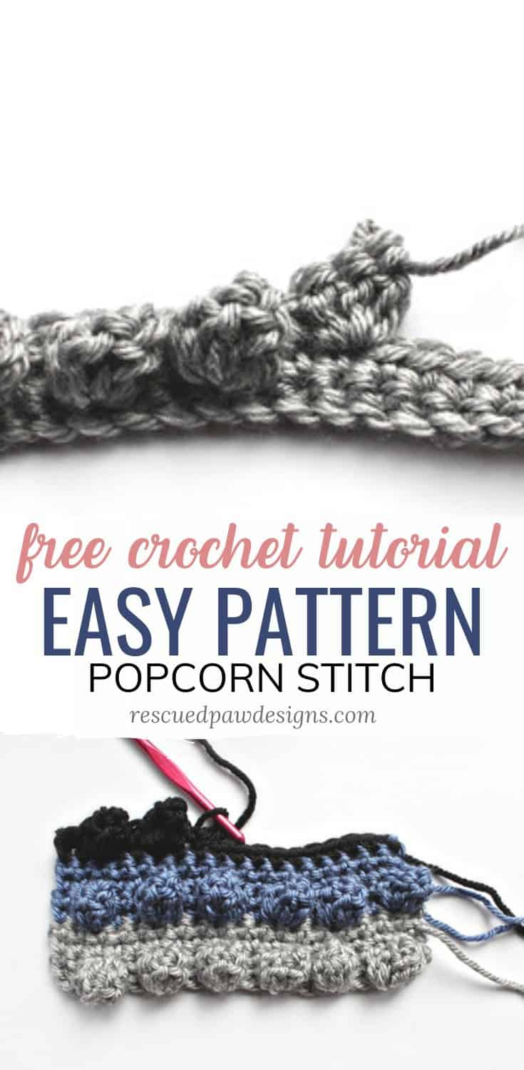 popcorn stitch crochet tutorial