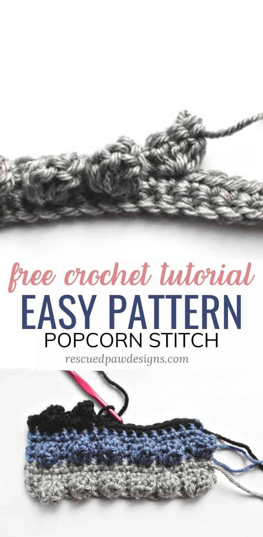 popcorn stitch crochet tutorial